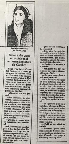 Isabel Arias ganó un accésit en el certamen de pintura de Cambre