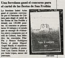 Una ferrolana ganó el concurso para el cartel de las fiestas de San Froilán