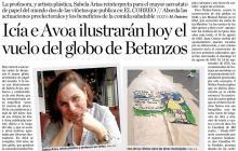 Icía e Avoa ilustrarán hoy el vuelo del globo de Betanzos